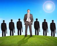 Комплект бизнесменов и природы Стоковая Фотография RF