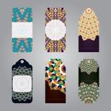 Комплект бирок продажи подарка с геометрическими элементами Стоковая Фотография