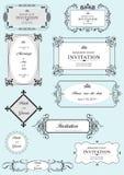 Комплект богато украшенных рамок и орнаментов вектора Стоковые Фото