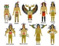 Комплект богов коренного американца Стоковая Фотография