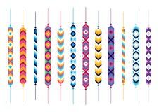 Комплект браслетов хиппи приятельства Стоковое фото RF