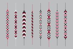 Комплект браслетов хиппи приятельства Стоковое Изображение RF