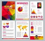 Комплект брошюры канцелярских принадлежностей корпоративного бизнеса Стоковое Изображение