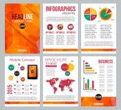 Комплект брошюры канцелярских принадлежностей корпоративного бизнеса Стоковая Фотография RF