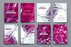 Комплект брошюры, шаблонов дизайна плаката в абстрактном стиле предпосылки иллюстрация вектора
