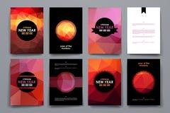 Комплект брошюры, шаблонов дизайна плаката в китайском стиле Нового Года бесплатная иллюстрация