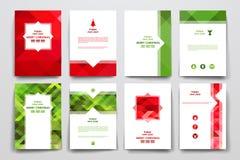 Комплект брошюры, шаблонов дизайна плаката иллюстрация вектора