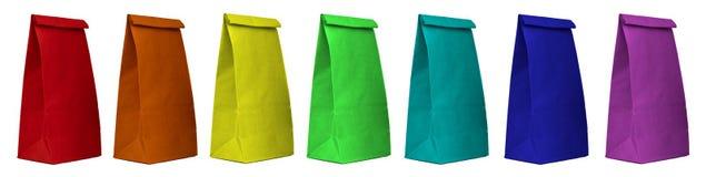 Комплект бумажных сумок Стоковые Изображения