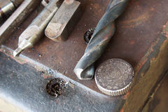 Комплект бурового наконечника стоковая фотография