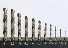 Комплект буровых наконечников для металла иллюстрация штока