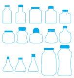 Комплект бутылки иллюстрация вектора