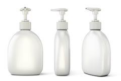Комплект бутылок с жидкостным мылом от разных видов Стоковое Фото
