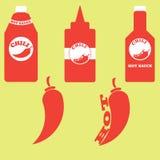 Комплект бутылок Стоковые Фотографии RF
