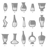 Комплект вазы Стоковые Фото