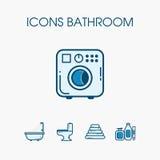 Комплект ванной комнаты значков Стоковые Фото