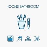 Комплект ванной комнаты значков Стоковое Изображение