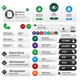 Комплект вебсайта служб безопасности Стоковые Изображения RF