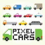 Комплект вектора автомобилей искусства пиксела Стоковые Фотографии RF