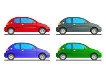 Комплект вектора автомобили Стоковые Изображения RF