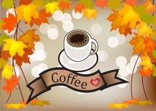 Комплект вектора визитных карточек на кофе Стоковые Изображения RF