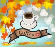 Комплект вектора визитных карточек на кофе Стоковые Фотографии RF