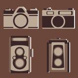 Комплект вектора винтажной камеры Стоковое Изображение