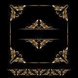 Комплект вектора винтажных декоративных элементов Стоковая Фотография