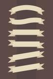 Комплект вектора винтажных знамен в выгравированном стиле Стоковые Изображения