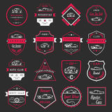 Комплект вектора винтажных значков и знака автомобиля Стоковое Изображение