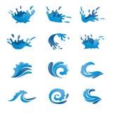 Комплект вектора воды Стоковые Изображения