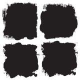 Комплект вектора грязи Grunge эскиза Overlay текстура, индивидуальные объекты стоковое фото