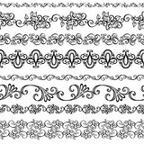 Комплект вектора декоративного флористического орнамента Стоковое фото RF