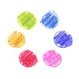 Комплект вектора детей рисуя doodle карандаша иллюстрация вектора