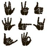 Комплект вектора жеста рукой Стоковое Изображение RF