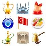 Комплект вектора значков перемещения Турции бесплатная иллюстрация