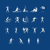 Комплект вектора значков спорта Стоковое Изображение