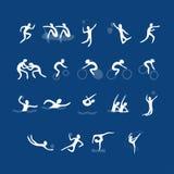 Комплект вектора значков спорта Стоковая Фотография