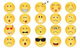 Комплект вектора значков эмоции Стоковое Изображение RF