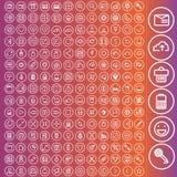 Комплект вектора значков для сети и пользовательского интерфейса Стоковая Фотография RF