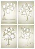 Комплект вектора дизайнов фамильного дерев дерева бесплатная иллюстрация