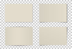 Комплект вектора изогнутых рамок фото Стоковые Изображения RF
