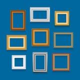Комплект вектора картинных рамок Стоковая Фотография RF