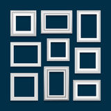 Комплект вектора картинных рамок Стоковые Фото