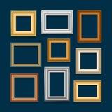 Комплект вектора картинных рамок Стоковое Изображение RF