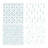 Комплект вектора картины падений дождя Стоковое Фото