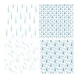 Комплект вектора картины падений дождя Стоковые Фотографии RF