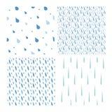 Комплект вектора картины падений дождя Стоковая Фотография RF