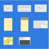 Комплект вектора конверта почты Стоковое Изображение