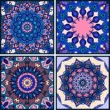 Комплект вектора красивой печати pillowcase или bandana востоковедные картины Стоковое Фото