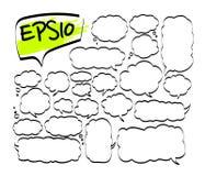 Комплект вектора нарисованных рукой элементов doodle иллюстрация штока